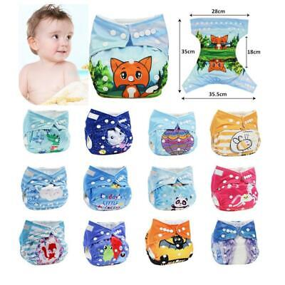 Reusable Baby Toddler Nappy Cloth Diapers Cover Washable One Size Adjustable