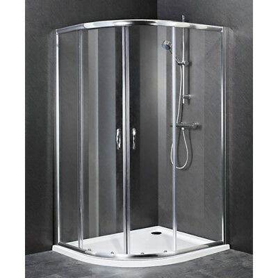 Lakes 800mm Quadrant Reduced 1750mm Height Corner Cubicle Only with-out Tray