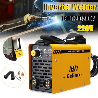 200Amp Portable Welder Welding Inverter Machine MMA ZX7-200 IGBT DC 220V UK