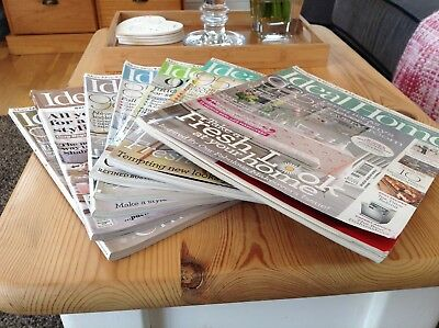 Ideal Home Magazines Collection x 7 Home Inspiration/Decorating/Seasonal Ideas