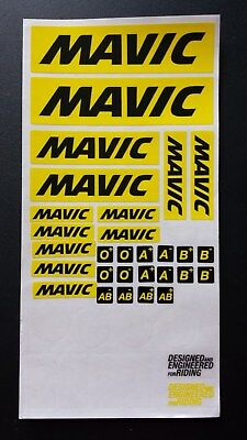 Mavic Aufkleber Decal NEU Sticker Dekor Mountainbike Rennrad Felgen MTB