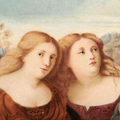 "19Th/20Th C. Kpm Germany Plaque, ""the Three Graces"""