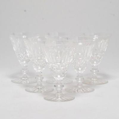 Set Of 6 Waterford Cut Crystal Wine Glasses Baltray Pattern