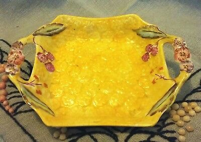 VINTAGE JAMES KENT HANDLED PIN DISH Longton England Pretty Floral Textured Pattn