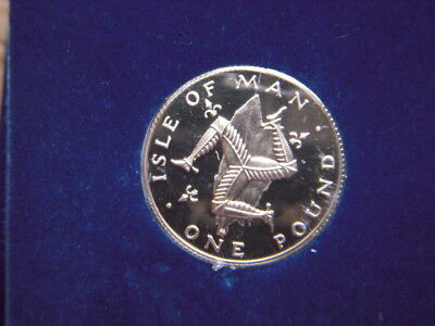 A 1978  Isle Of Man   Silver Proof Pound In Original Box With Coa   [4Pc]