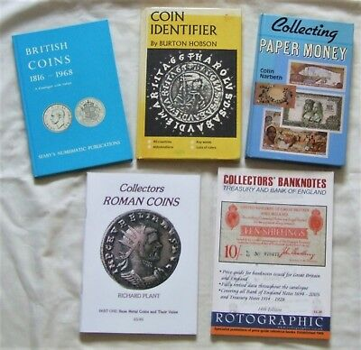 Coin & Paper Money Collecting Books x 5