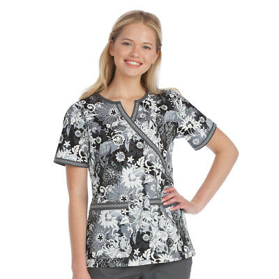 Med Couture Women's Chrissy Notch 3X-Large Y-Neck Floral Print Top 8440 FSOG