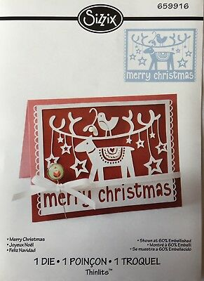 "Sizzix Thinlits  Formen ""Merry Christmas"" Nr. 659916"
