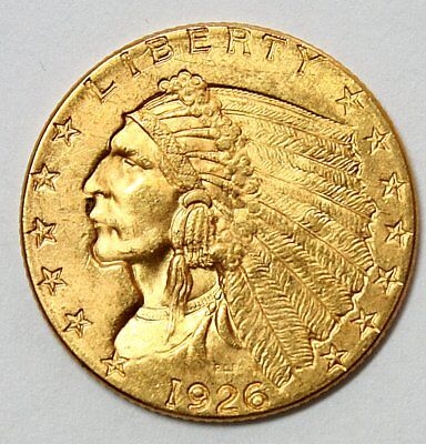 1926 $2.50 Indian Head Gold Coin * Quarter Eagle * FREE SHIPPING - B