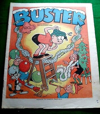 Buster Comic   Christmas Issue   29/12/1984  With Save Santa Game Intact