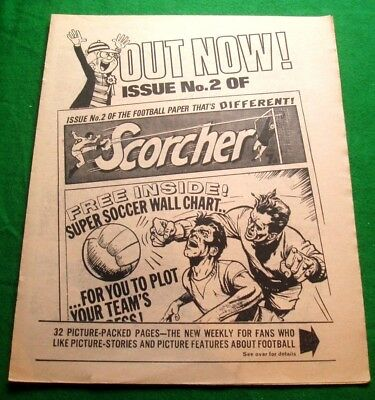 Scorcher Comic #2  4 Page Pink Pullout Insert  Stunning  Advert  From 1970  Rare