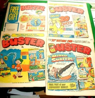 LEOPARD BOY  (OF LIME ST)  COMPLETE MINI COMIC  INTACT IN  BUSTER 4x COMICS 1981