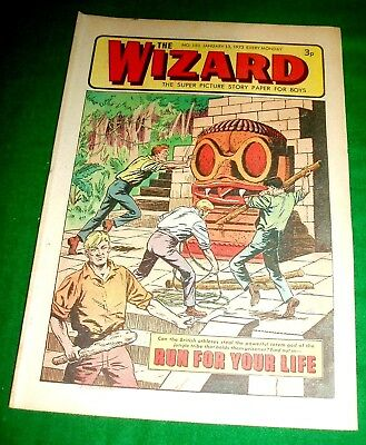 Last Ever Issue Of The Wizard As A Solo Comic  13/1/1973  In Great Shape