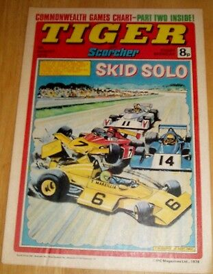Tiger Comic 1978  Commonwealth Games Chart Part 2 Centrefold  & Northants Ccc