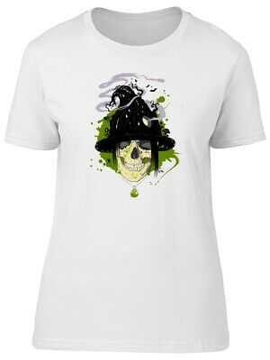 Scary Halloween Witch Skull Women's Tee -Image by Shutterstock
