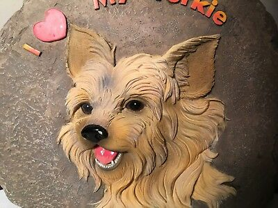 Spoontiques Stepping Stone of I Love My YORKIE Terrier  Dog or wall plaque