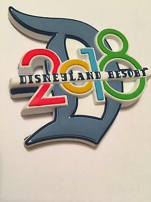 Disney Parks DLR Disneyland Resort 2018 Big D Soft Rubber Refrigerator Magnet