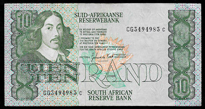 World Paper Money - South Africa 10 Rand ND 1985-90 P120d @ VF Cond.