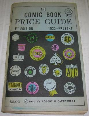 Rare 1970 1St Edition Blue 2Nd Print Overstreet Comic Book Price Guide (Vg-)