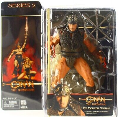 NECA Conan the Barbarian movie Battle Helmet Pit Fighter 7in. Action Figure
