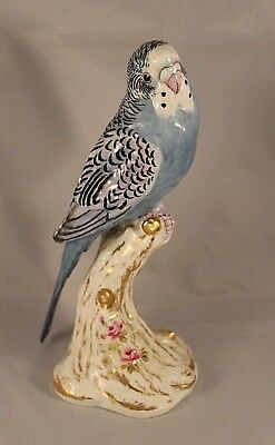 "Royal Worcester ""Budgerigar"" or ""Parroquet"" Female Blue Parakeet 2663"