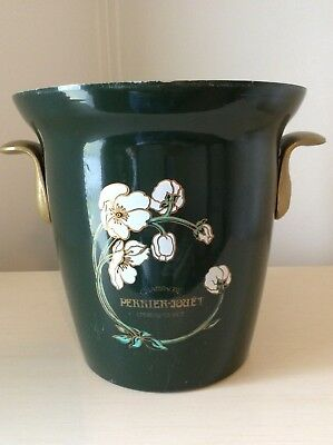 Perrier Jouet Vogaul Champagne France Green Ice Bucket Flower
