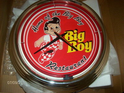 "Frisch's Big Boy Diner Restaurant Wall Clock 14"" (Face 10"") Electric or Battery"