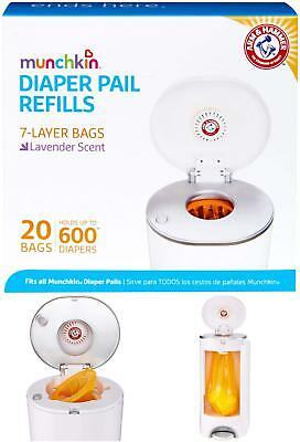 Munchkin Arm  Hammer Diaper Pail Snap, Seal And Toss Refill Bags, 20 Bags, Hold