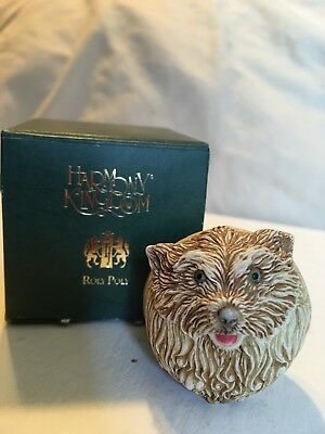 Harmony Kingdom Roly Poly-Retired 2000-BRANDO-Terrier-TJRPHO-A. Binder Artist