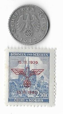 Rare Old German WWII WW2 Germany Eagle Coin Stamp Great War Collection LOT/US:E6