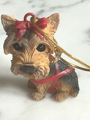 Yorkie Dog Ornament Yorkshire Terrier Holiday Christmas 24296