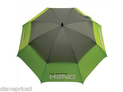 "Sun Mountain H2NO Double Canopy 62"" Umbrella - Lime / Grey"