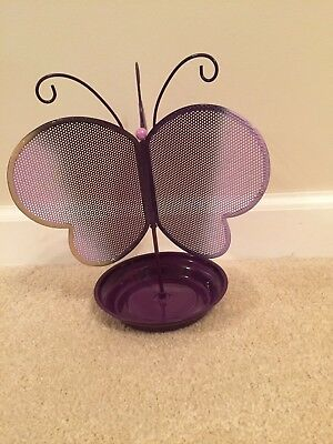 Butterfly shaped Earring Jewelry Display Stand Holder Purple Butterfly