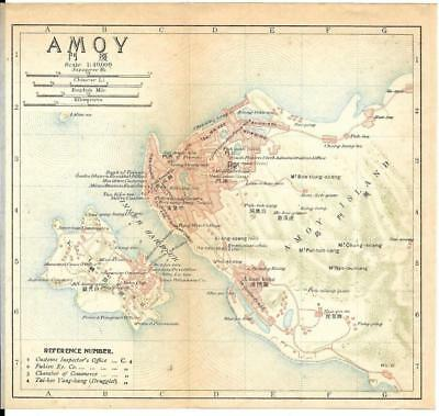 1915 IMPERIAL JAPANESE RAILWAY MAP of AMOY CHINA