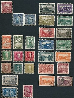 Bosnia & Herzegovina **29 DIFFERENT MLH & USED (1906-18)** **NICE STAMPS**