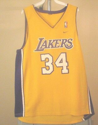 de7f5776 SHAQUILLE O'NEAL #34 Los Angeles Lakers Classic Gold Swingman Jersey ...