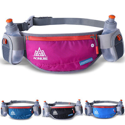 Water Pouch Cycling Holder Bag For Runners Two Jogging Sport Belt Bottle Waist