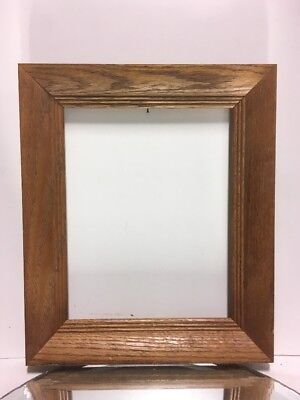 "VTG. Mid Century Arts and Crafts Mission OAK Picture Frame Fits 8""x10"""
