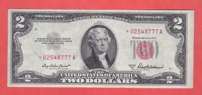 $2 1953A Red Seal BEAUTIFUL U.S. *STAR* Note!!                x4a