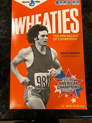 Original General Mills Wheaties Box With Bruce Jenner Decathlob Champion