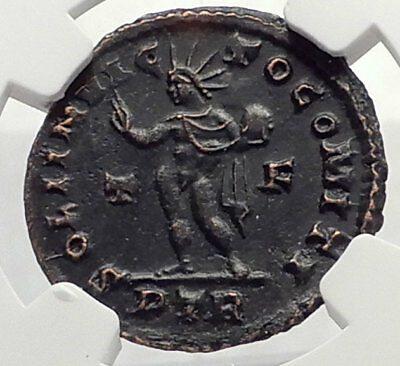 CONSTANTINE I the Great 310AD Trier Authentic Ancient Roman Coin SOL NGC i70630