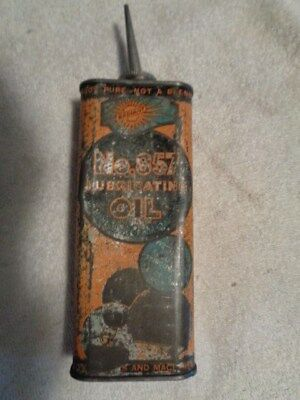 Radiant  No. 857  12 OZ Handi Oiler Oil Can Gas Station Advertising