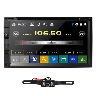 "Sony Lens Double 2Din 7""Car Stereo Radio DVD Player In Dash Bluetooth MP3+CAMERA"