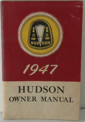 excellent original 1947 Hudson Owner Manual, 72 pages show very little use