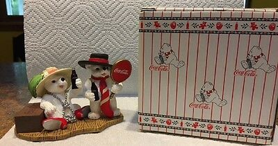 Vintage '98 Coca Cola Polar Bear Cubs You Bring Out the Best in Me PERFECT boxed