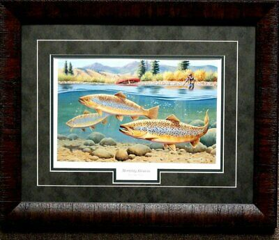 Cynthie Fisher Morning Browns Framed Fishing Print  21 x 17
