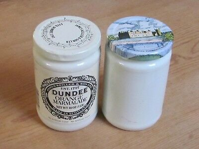 Vintage James Keiller & Sons Dundee ORANGE Marmalade Jar + EXTRA JAR