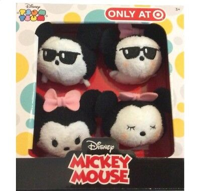 Mickey & Minnie Mouse Tsum Tsum Mini Plush - Disney Summer Exclusive Box Set NEW
