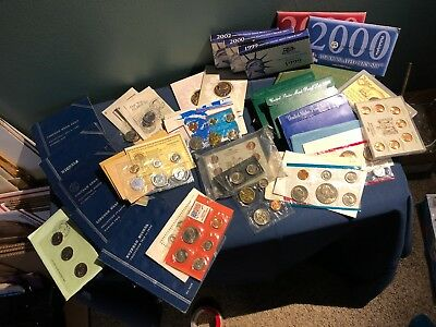 Dad's big vintage coins lot - proof sets, commemoratives, misc, with certs - NR!