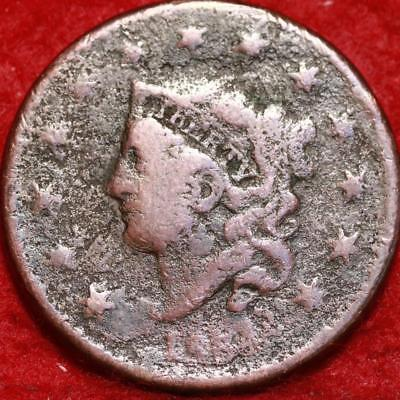 1834 Philadelphia Mint Copper Coronet Head Large Cent